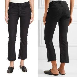 Frame Denim Black Le Crop Mini Boot Jeans